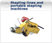 stapling lines and portable stapling machines